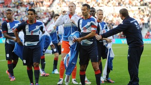 Team GB Men seen during an Olympic friendly match