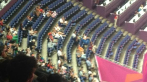 Empty seats at gymnastics
