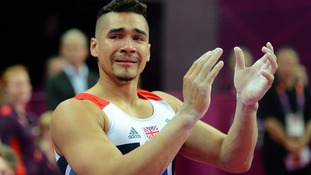An emotional moment for Team GB gymnast, Louis Smith