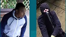 Essex Police have released CCTV of two men they want to trace following an attempted burglary.
