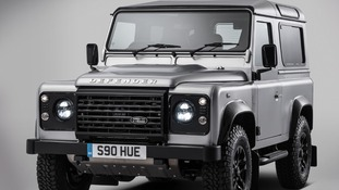 Celebrities help to build the 2 millionth Land Rover Defender which will be sold for charity