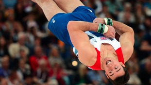 Great Britain's Kristian Thomas competes on the floor during the Artistic Gymnastics team qualification