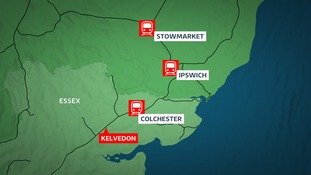 A person has being hit by a train at Kelvedon in Essex