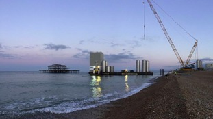 Final barge arrives at the i360 tower