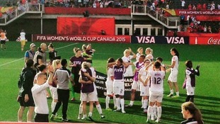 Emotional scenes in Canada as England Women's secure quarter final place.