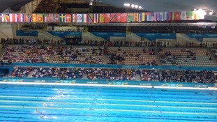 Swimming at the Aquatics Centre in the Olympic Park
