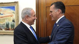 Mitt Romney meeting Benjamin Netanyahu