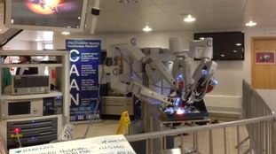 The da Vinci robot at work