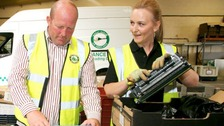 GNAAS sorting through ink cartridges