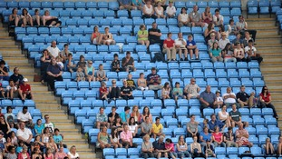 Empty seats during the Womens Football, First Round, Group F match at the City of Coventry Stadium, Coventry
