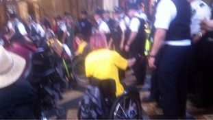Police branded 'heavy handed' with disabled protesters