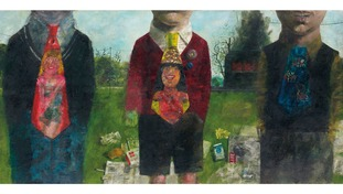 The Sir Peter Blake painting 'Boys With New Ties' will be auctioned by Christies.