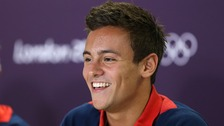 Great Britain's Tom Daley during the press conference in the Main Press Centre in the Olympic Park, London.