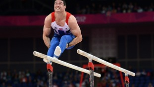 Kristian Thomas competes on the parallel bars during the Artistic Gymnastics team qualification at the North Greenwich Arena, London.