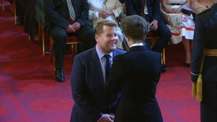 James Corden receives an OBE for services to drama