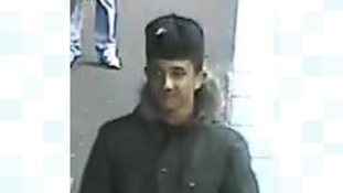 Police are searching for this man in regards to an incident at Hawthorns station.