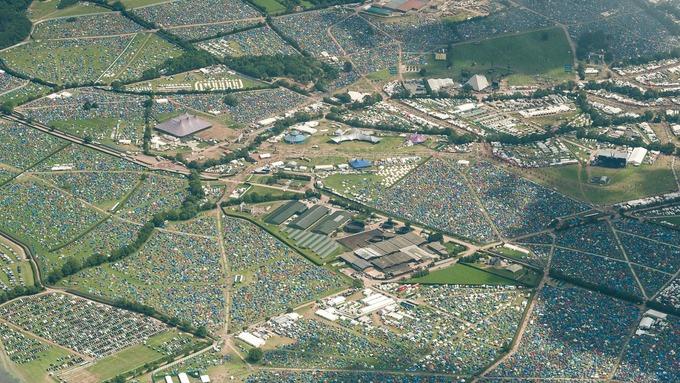 Glastonbury Tents 2015 Glastonbury Tent City is