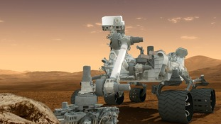 This artist's concept features NASA's Mars Science Laboratory Curiosity rover as seen in this handout NASA image.