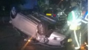 The scene of the crash in Birmingham.