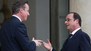 David Cameron and Francois Hollande at a previous meeting.