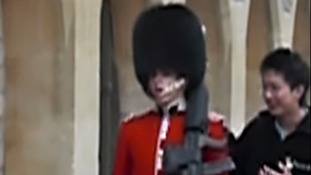 'Step back from the Queen's Guard,' he shouted at the tourist who had been pestering him