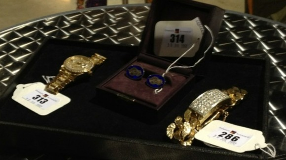Jimmy Savile jewellery up for auction.