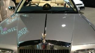 Jimmy Savile's immaculate 2002 Rolls-Royce Corniche convertible