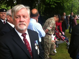 Hundreds turned out to honour the memory of Alex who served his country for 30 years