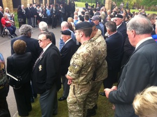 A campaign was launched for ex-servicemen and others who wished to pay their respects to attend the service.