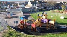 The playground at Victoria Gardens in Portland, Dorset.