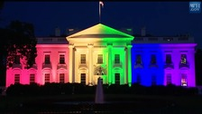 white house rainbow colours