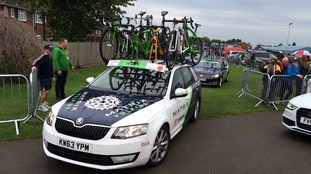 No cycling race is complete without support