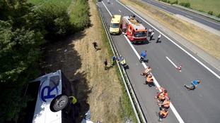bus crash in belgium
