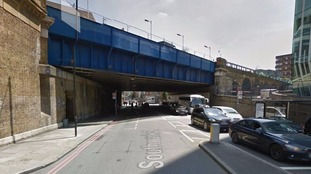The female cyclist collided with a lorry at Southwark Street