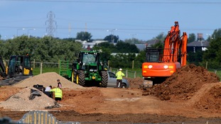 Fracking work at the Little Plumpton site