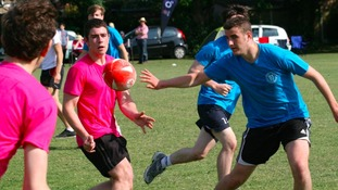 Sixth-formers smash rugby record