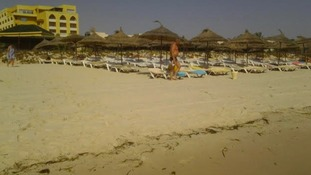 The beach at Sousse