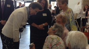 Princess Anne has been meeting long time residents of North Prospect