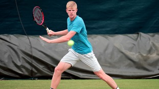 Tough match for Kyle Edmund