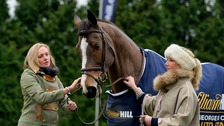 Kauto Star with his dressage rider Laura Collett (right)