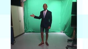 Alex Beresford in shorts