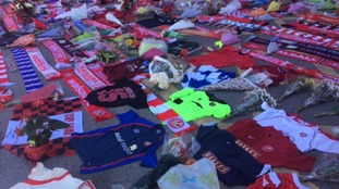 Fans have been leaving scarves at Walsall FC