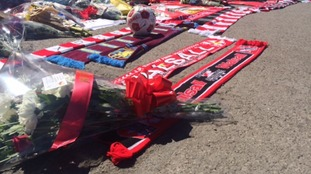 Fans have been leaving tributes at Walsall FC