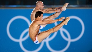 Tom Daley and Peter Waterfield during the Men's Synchronised 10m Platform Final