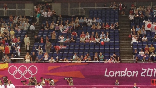 Empty seats ahead of men's gymnastics final