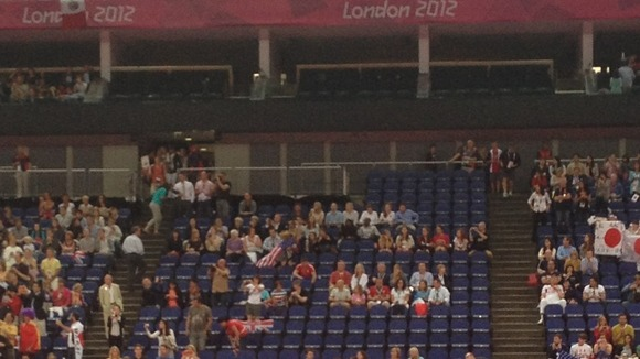 Empty seats at Men&#x27;s Team gymnastics