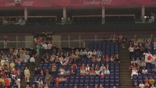 Empty seats at Men's Team gymnastics