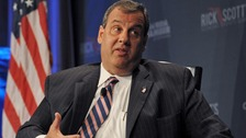Republican presidential hopeful, New Jersey Gov. Christie addresses an economic summit in Orlando.