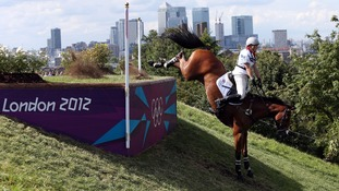 Zara Phillips riding High Kingdom on the cross country course during The Eventing at Greenwich Park.