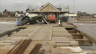 Rebuilding the pier in 1999